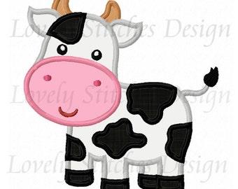 Cow Applique Machine Embroidery Design NO:0270