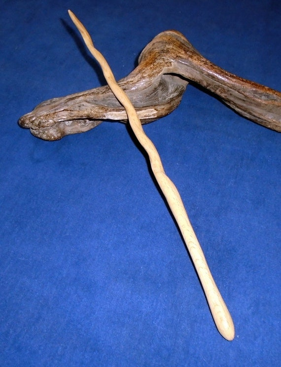 Curved beech wood wand wooden magick handmade magic
