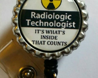 Radiologic Technologist Retractable Name Badge Holder Reel