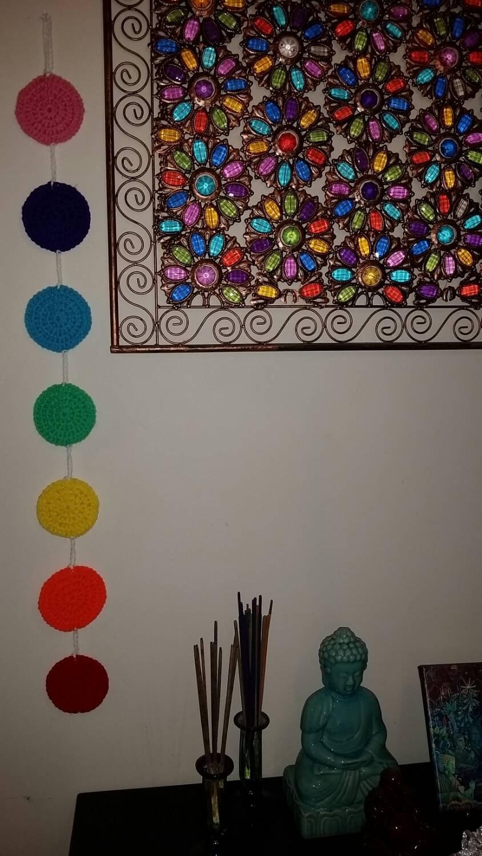 Studio Decor Wall Hanging Template : Crochet chakra wall decor yoga studio hanging