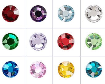 5mm Round Floating Birthstone Crystals for your Living Locket - Birth Stone Charms Point Back