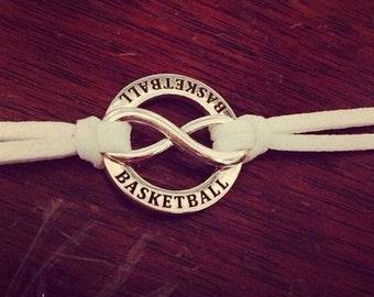 Basketball Forever Bracelet....custom colored strap