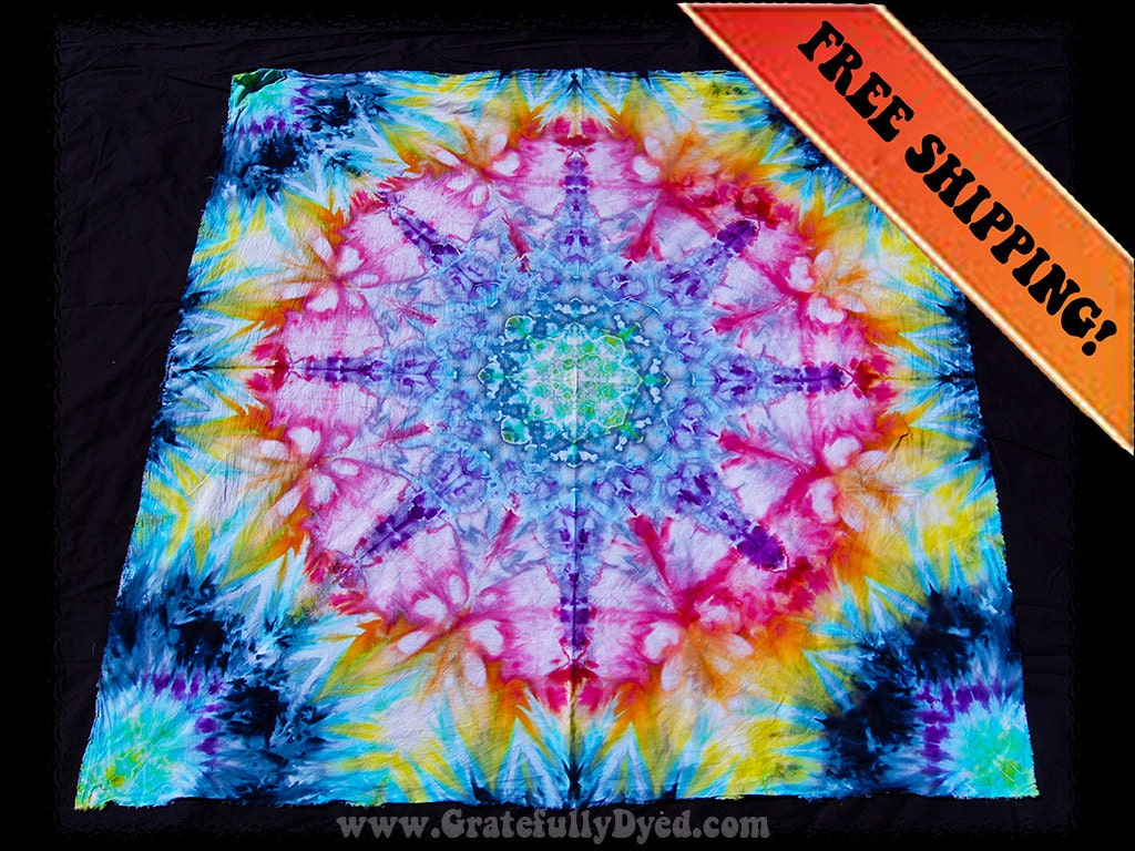 tie dye tapestry trippy festival tapestries psychedelic