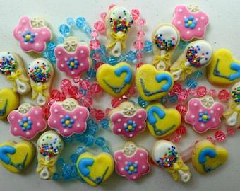 """Baby Bibs, Rattles, & Diaper Pins """"Doodle Bites"""" Cookies"""