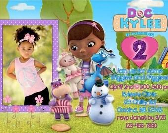 Digital Doc McStuffins Invitation, Doc McStuffins Invite, Doc Invite, Doc Invitation