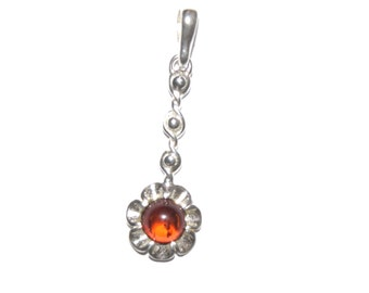 sterling silver and natural baltic amber pendant