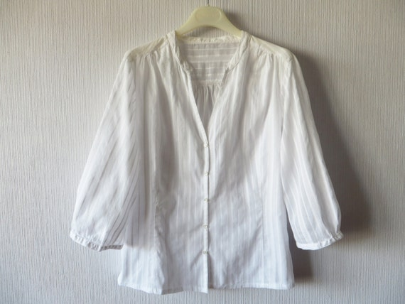 White Cotton Camp Style Blouse 90
