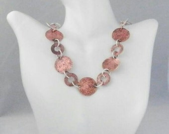 Copper and Sterling Silver Necklace