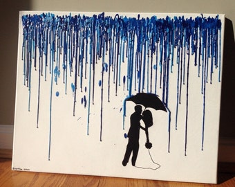 Custom Wedding/Couples Crayon Art