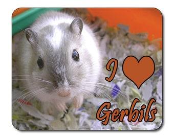 Gerbils - I Love Gerbils Mouse Mat Mouse Pad