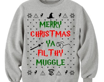 Merry christmas ya filthy animal sweater etsy