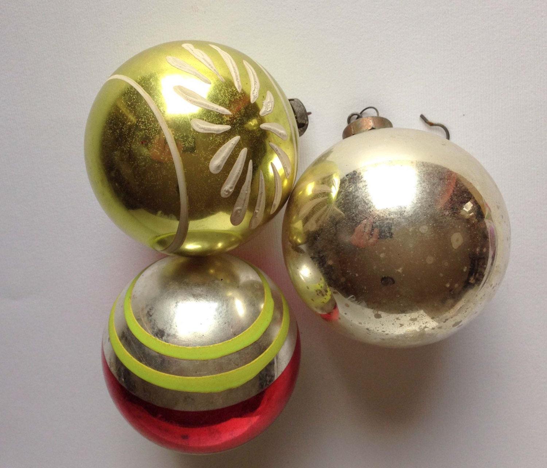 Vintage Christmas Ornaments Vintage Christmas Bulbs Gold