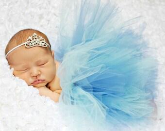 TUTU SKIRT...Blue Tutu Skirt...Newborn Tutu...Baby Tutu...Toddler Tutu...Cakesmash Tutu...Birthday Tutu...Summer Dress