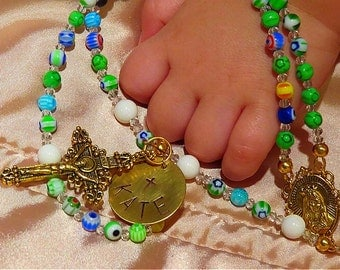GIRL'S BAPTISM Rosary Personalized Rosary, First Communion, Catholic Rosary, Religious Gifts, First Communion, Child's Rosary
