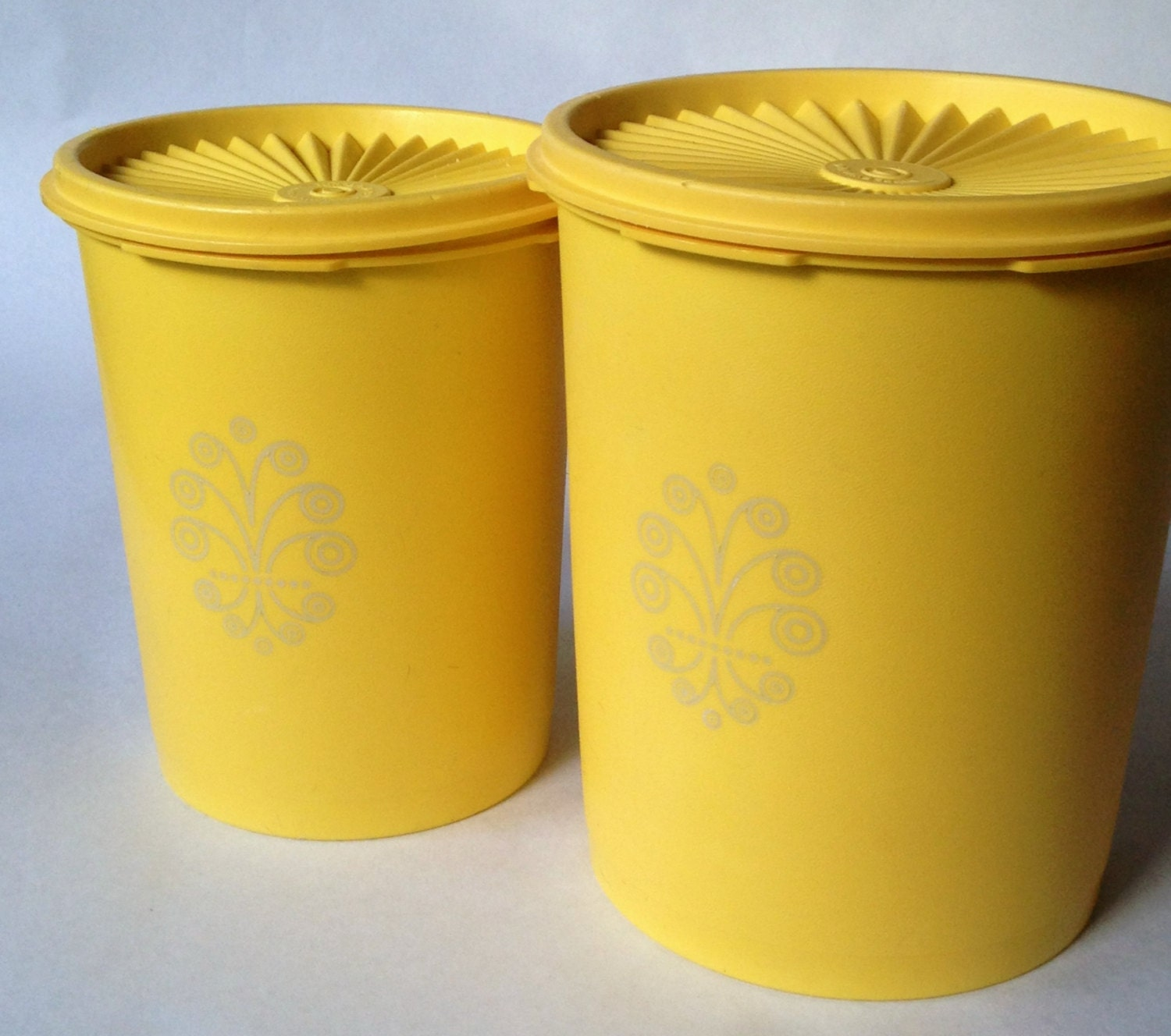 Modern Canister Set >> Tupperware 2 piece canister set vintage by LisaLiYesterYears