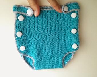 Boy Diaper Cover *handmade* baby knit diaper cover