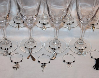 Fifty Shades of Grey Inspired Wine Charms Set of 12 Fifty Shades Themed Wine Charms