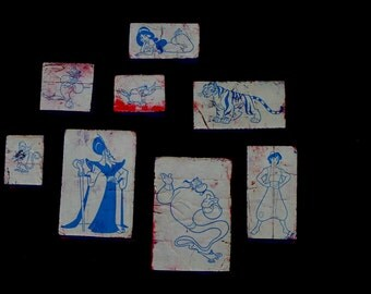 Disney Aladdin Set of 8 Scrapbook and card making decorating rubber stamp stampers supplies