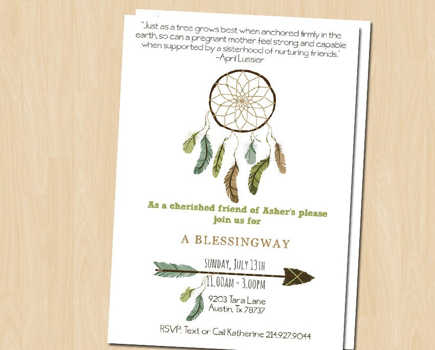 Blessingway Invite Blessing Way Invitation by ...