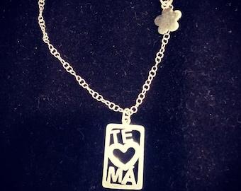 I Love you Mom Pendant #TeAmoMa Pendant