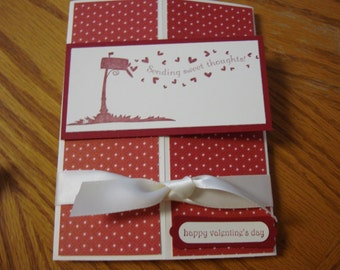 Stampin Up Homemade Greeting Card Happy Valentines Day Sending Sweet thoughts
