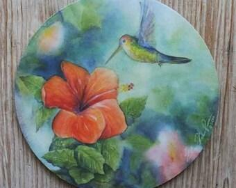 Mouse Pad mousepad Hummingbird Fine Art Original Watercolor
