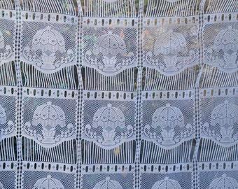 Pair Lamp Pattern Lace Café Curtain Pelmets