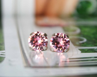 Swarovski pink crystal earrings