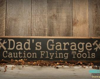 Dad's Garage Sign, Handcrafted, Dad's Garage, Rustic