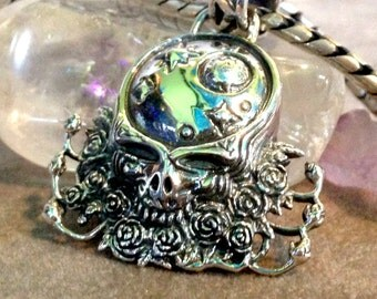 Grateful Dead Space Your Face Pendant Sterling Silver Steal Your Face