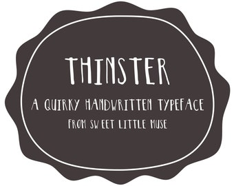 Hand written font -Thinster FONT - instant download - typeface