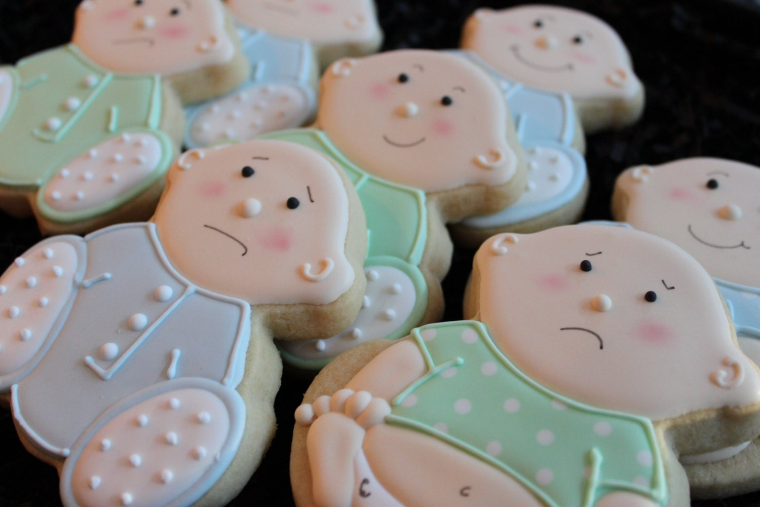 baby shower cookies baby girl baby shower by 4theloveofcookies