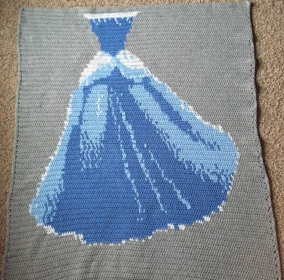 Crochet Pattern Princess Dress Blanket : PATTERN: Sleep Like a Princess Cinderella Style Crochet