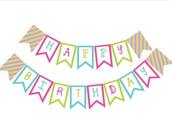 Printable Birthday Banner-Digital File