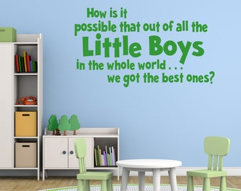 Nursery Wall Decal - Best Boys Quote Wall Art - Nursery Wall Decor - Nursery Wall Stickers - Nursery Quotes - Quote Wall Decal - QU077