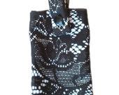 Black Lace Bra  Belt Pouch for insulin pump