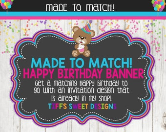 Made to Match Party Printable Happy Birthday Banner