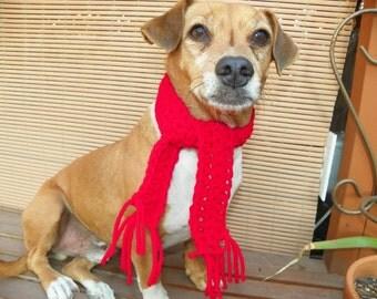 Dog Scarf Neck Warmer Christmas Dog Scarf  Sizes XXSmall-XXXXX Large Hand Made