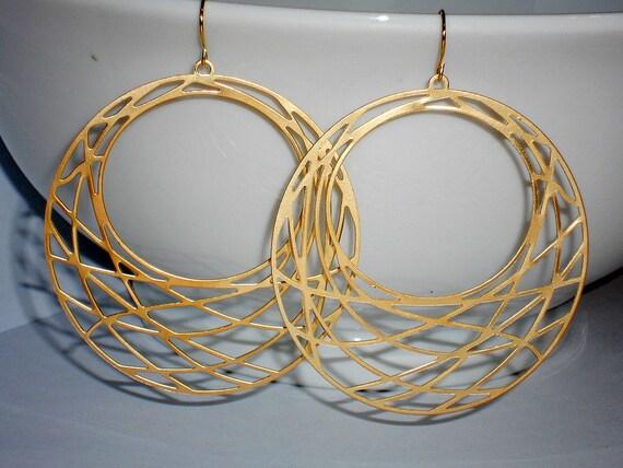 Everyday silver earrings hoops - silver flower earrings dangle hoops