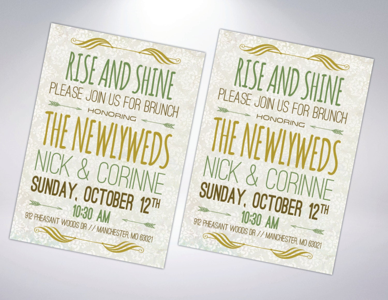 Post Wedding Brunch Invitation Postcard By TheDesignBrewery