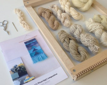 Beginner's Weaving Kit with Loom for Wall Hanging and Tapestry