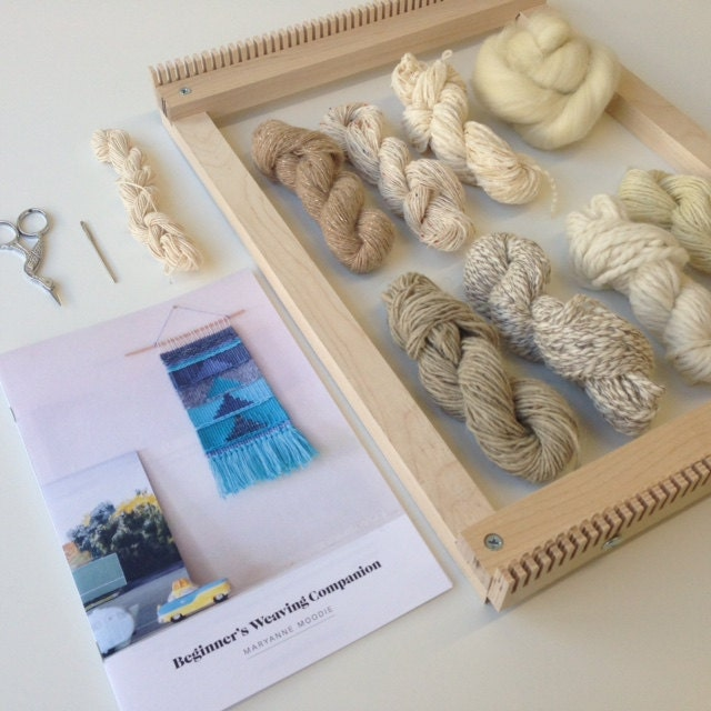 Wall Art Loom Kit : Beginner s weaving kit with loom for wall hanging and