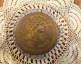 Antique Mary Garden Rigaud Paris Parefumeur Metal Compact - Early 1900's Compact