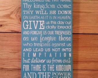 Lord's Prayer sign
