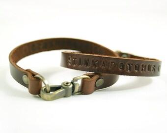 2x Matching Couple Bracelet, His Hers Bracelets, Custom Bracelet, Leather Bracelet, Personalized Leather Bracelet, Cuff, Christmas Gift