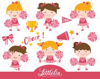 Cheerleader clip art | Etsy