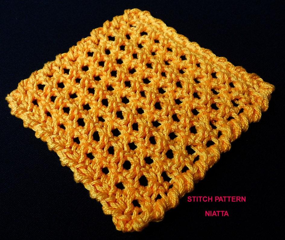 Beginner Crochet Stitch Tutorial : Honeycomb Crochet Reversible Stitch Tutorial Beginner