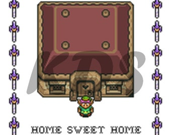 Home Sweet Home Legend of Zelda Cross Stitch Pattern
