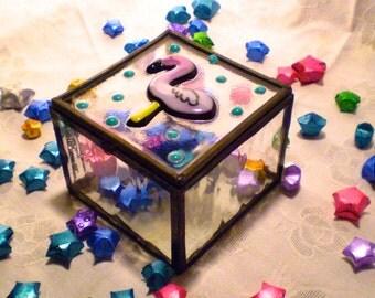 Flamingo Stained Glass Jewelry Box