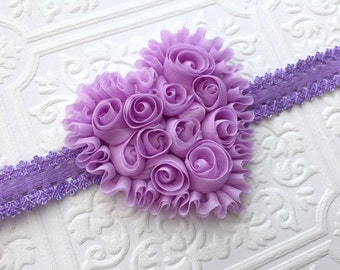 The Lavender Rosy Heart Headband or Hair Clip